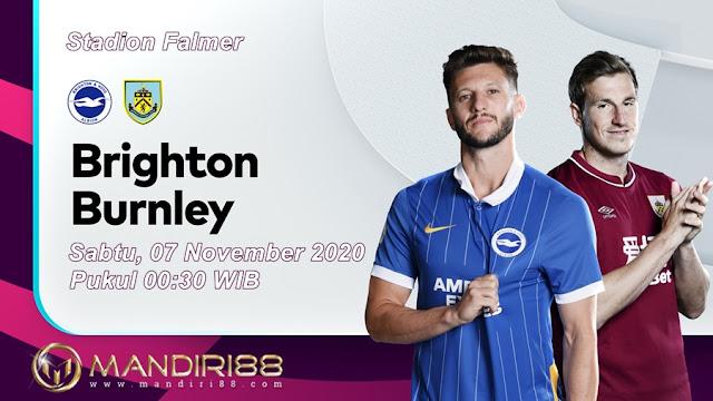 Prediksi Brighton Hove Albion Vs Burnley, Sabtu 07 November 2020 Pukul 00.30 WIB @ Mola TV