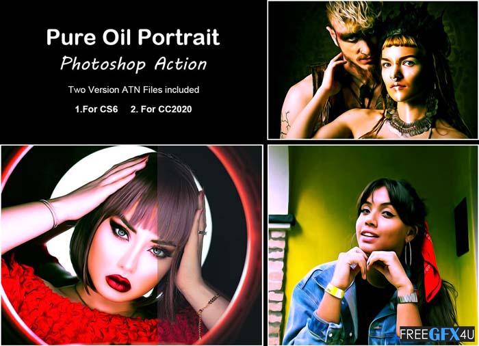 Pure Oil Portrait Photoshop Action