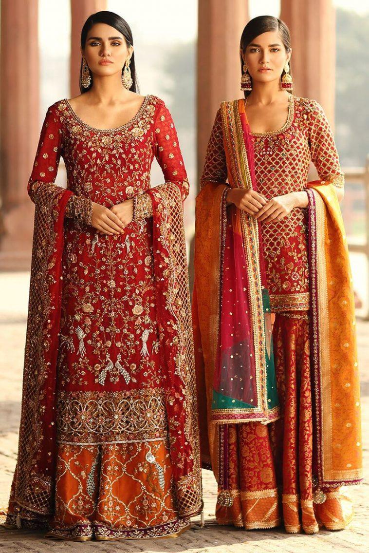 Sania Maskatiya Wedding & Bridal Dresses for Mehndi Barat and Walima