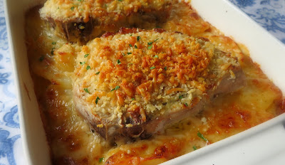 Devilled Pork Chops with Scalloped Potatoes