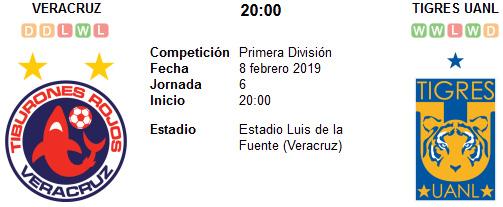 Veracruz vs Tigres UANL en VIVO