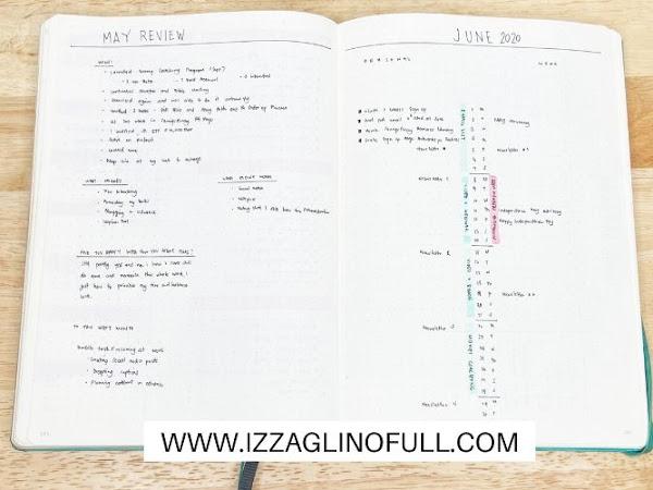 June 2020 Bullet Journal Set Up