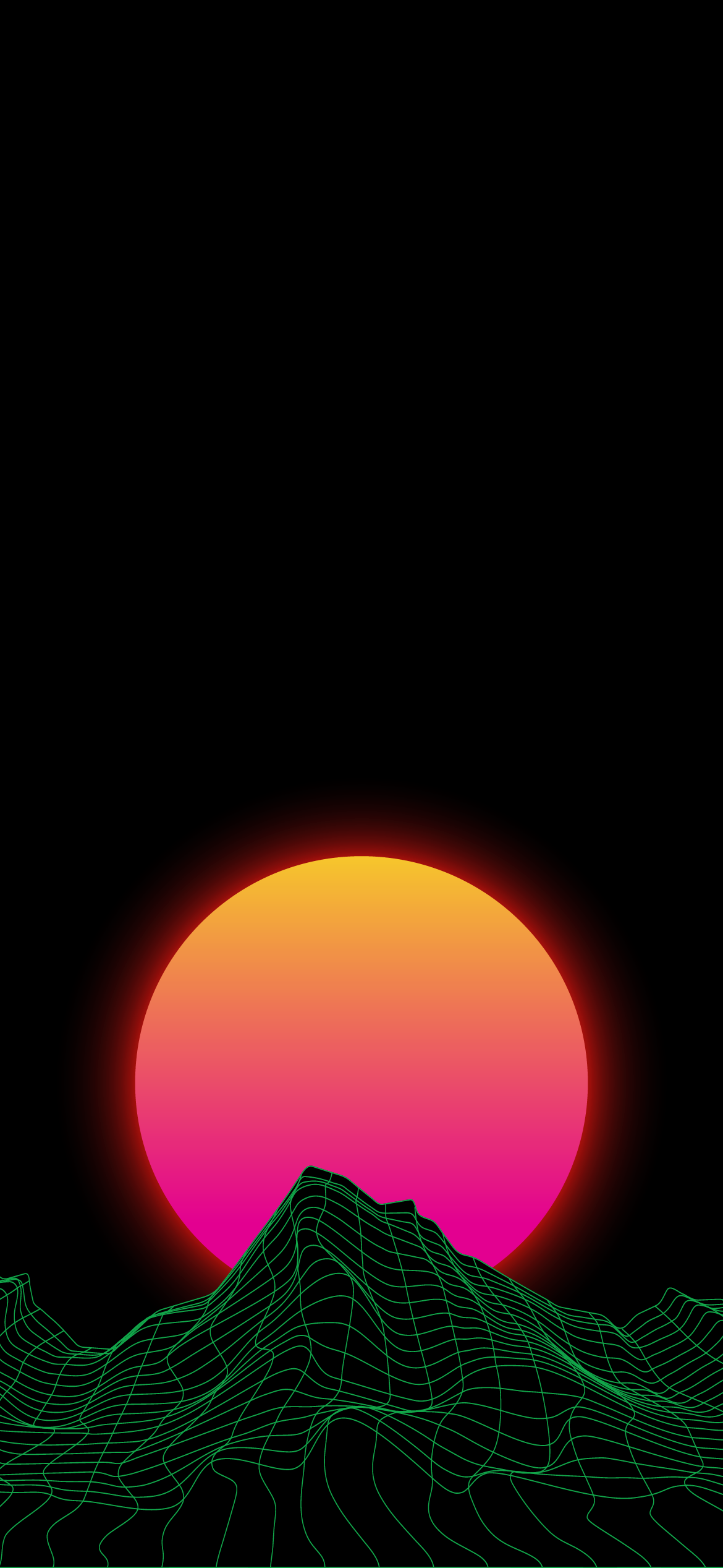 retro, outrun, synthwave msynth, amoled, true black, heroscreen, cool wallpaper