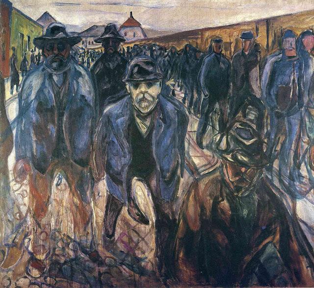 Эдвард Мунк - Рабочие на пути домой. 1915