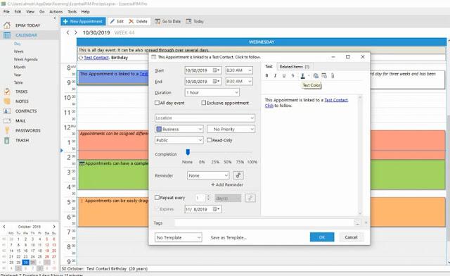 تفعيل برنامج EssentialPIM Pro كامل