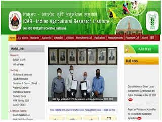 ICAR -IARI Sarkari Naukri 2020 Recruitment For Senior Research Fellow SRF & Unskilled Labour Post Walk-In-Interview