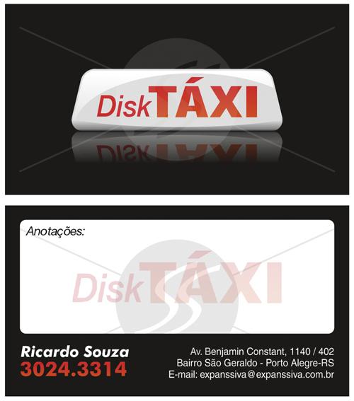 Cartão de visita criativo para taxistas 02