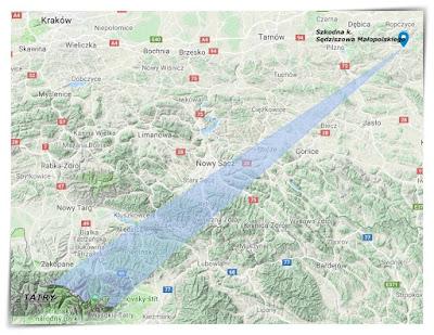 mapka google z kierunkiem