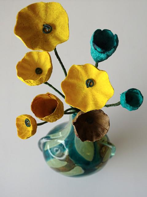 Rami decorativi con fiori di carta, bomboniere 2020