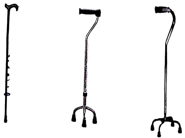jenis tongat alat bantu jalan, tongkat tripot, tongkat kuadripot, tongkat, one poin