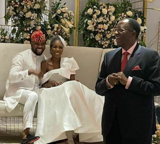 Beautiful photos from Debola Williams and Gbenga Daniel's daughter's wedding...