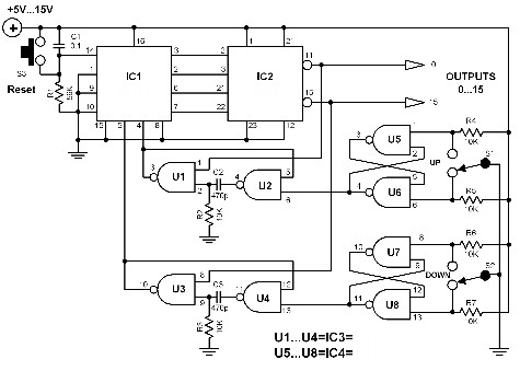 electronic-selector-circuit-diagrams
