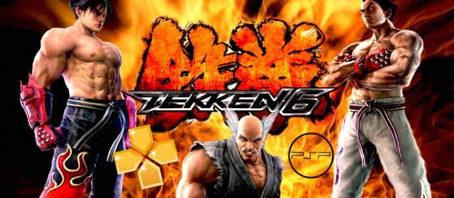 تحميل لعبة Tekken 6 لأجهزة psp ومحاكي ppsspp للأندروید بحجم صغير جداً