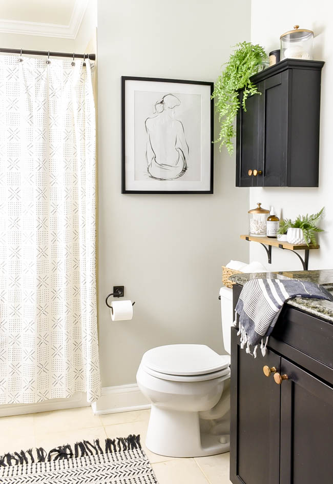 Vintage modern bathroom refresh