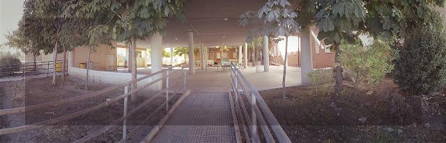 LACAL arquitectura. Arquitectos Granada. Javier Antonio Ros López, arquitecto. Daniel Cano Expósito, arquitecto. Ampliación de IES Alhendín. Porche existente.