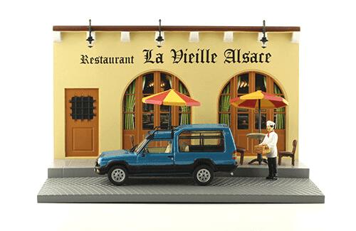 les plus beaux véhicules utilitaires, matra simca rancho 1:43 restaurant