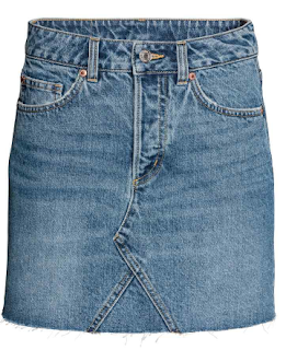 jupe en jean H&M