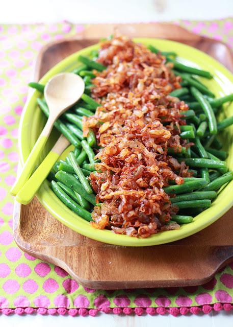 Sautéed Green Beans with Smoky Shallots from Kitchen Treaty