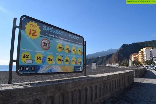La Playa de Santa Cruz de La Palma renueva los carteles para concienciar sobre su mantenimiento y limpieza