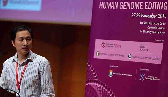 O Dr. He Jiankui foi condenado a prisão pelas suas experiências genéticas em crainças