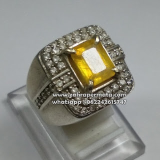 Cincin Batu Permata Yellow Saphire - ZP 1081