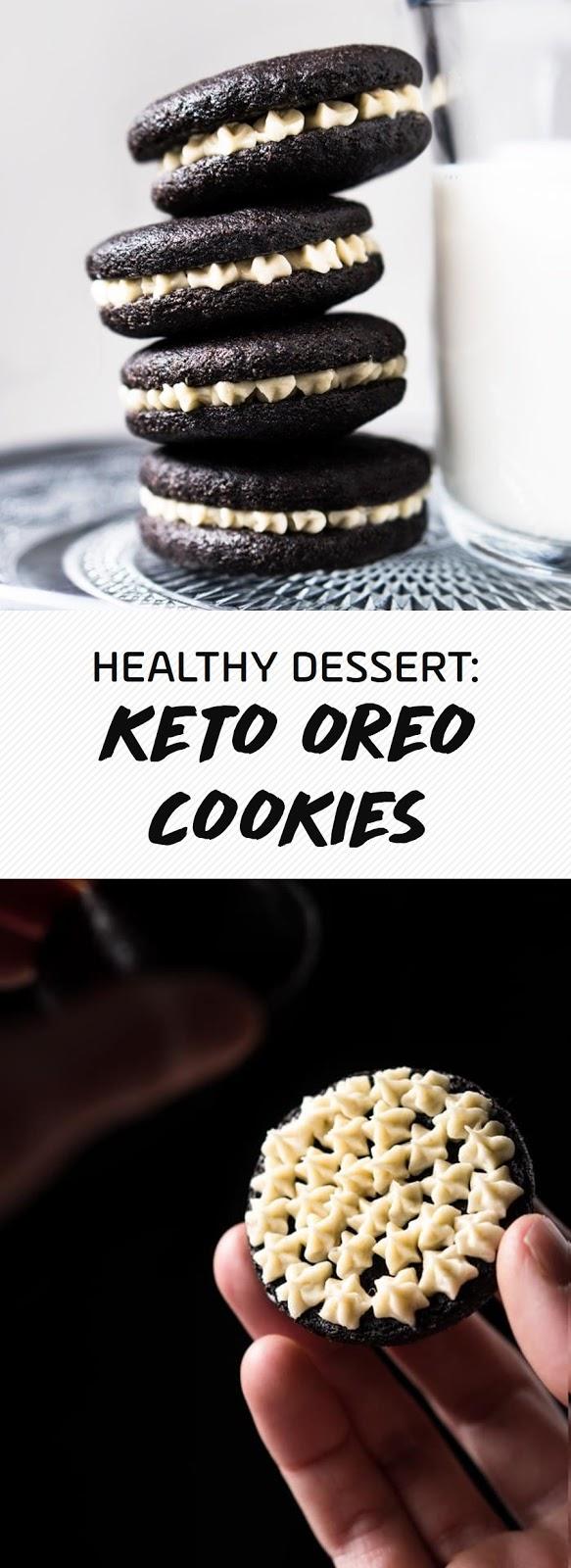 HEALTHY DESSERT:  KETO OREO COOKIES