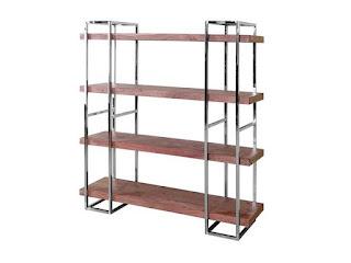 estanteria 4 estantes forja madera