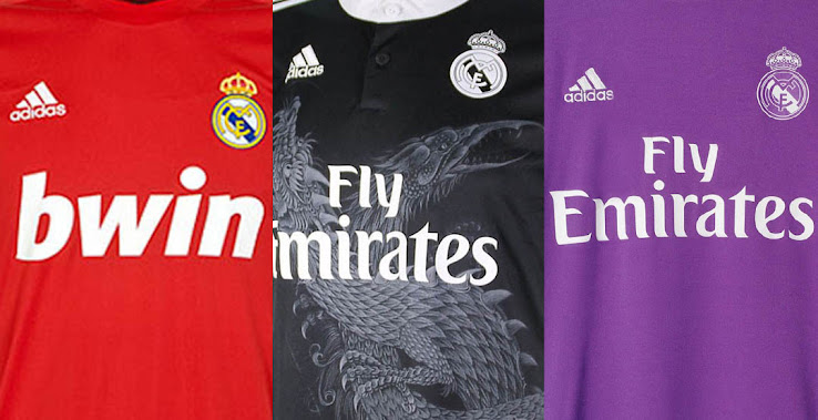 6cb81808f Which Is Your Favorite  Here Are All Adidas Real Madrid Away   Third Kits  From The Past 11 Years