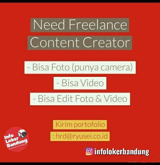 Lowongan Kerja Freelance Creator Ryusei Bandung November 2019