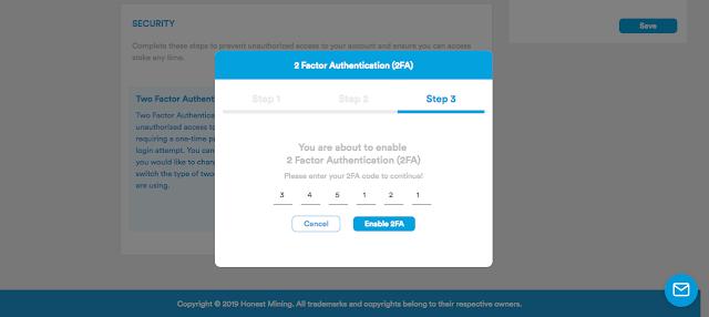 Masukkan kode Google Authenticator