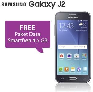 Samsung Galaxy J2 promo bonus Paket Data Smartfren 4.5 GB
