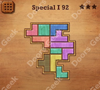 Cheats, Solutions, Walkthrough for Wood Block Puzzle Special I Level 92