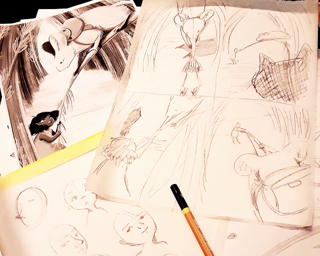 "Some of my sketches from the workshop ""Not Just A Pretty Picture"""