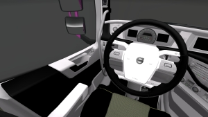 Black and white interior for Volvo 2012