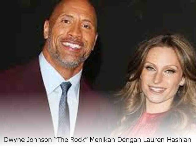 """Dwyne Johnson """"The Rock"""" Menikah Dengan Lauren Hashian"""