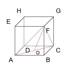 Diketahui kubus ABCD.EFGH dengan panjang rusuk 10 cm. Jarak titik F ke garis AC adalah ... cm.