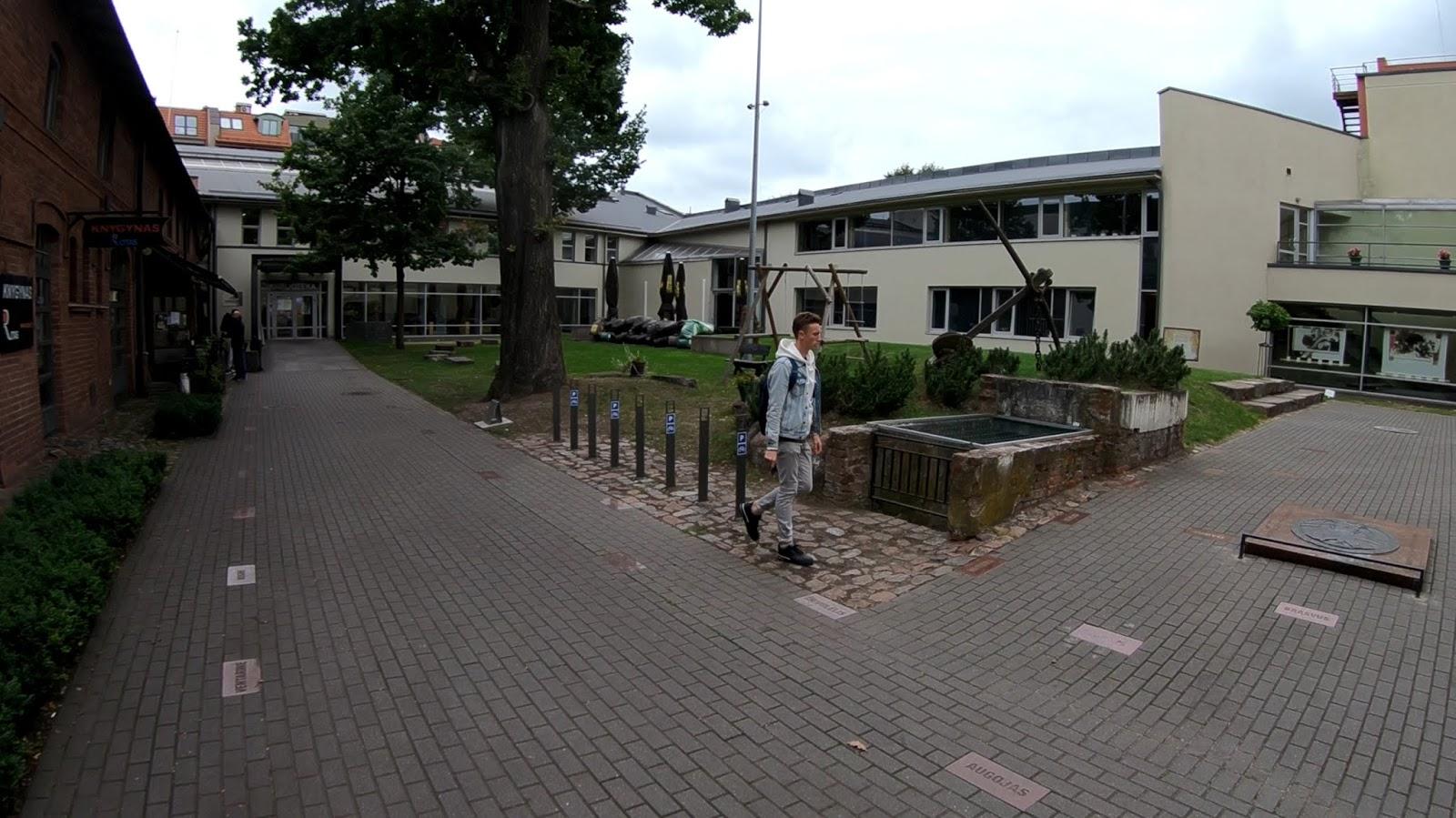 Дворик публичной библиотеки им. Евы Симонайтите. 5 фото