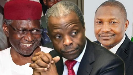 Abba Kyari, Osinbajo and Malami