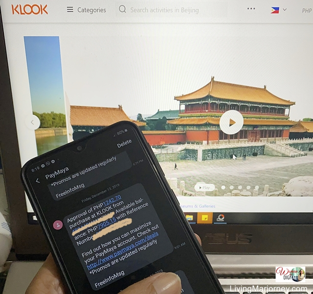 Booked Forbidden City Tickets at Klook Travel