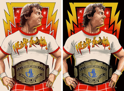 Rowdy Roddy Piper WWE Screen Print by Ghoulish Gary Pullin