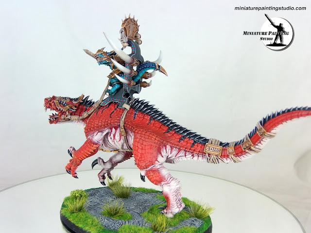 Warhammer Saurus Oldblood On Carnosaur