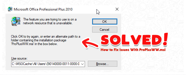 [ SOLVED ] How To Fix Windows Office Profesional 2010 With ProPlusWW.msi