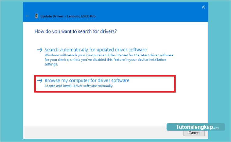 cara tutorial update driver windows
