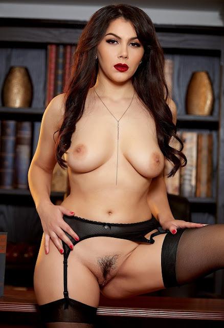Valentina Nappi pussy naked black stockings pics