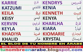 para tatuajes con nombres arabes: Kenya Kendrys Krystal
