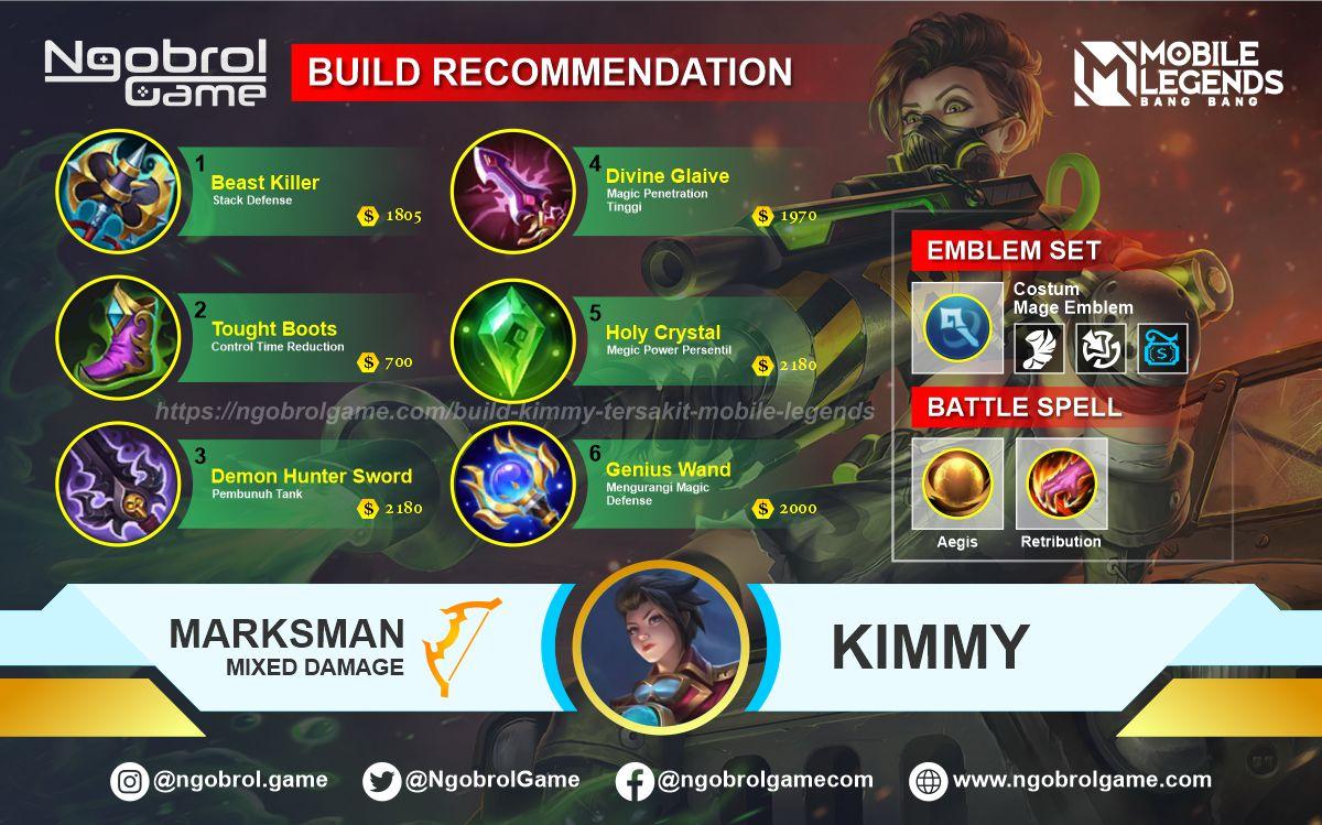 Build Kimmy Tersakit 2021 Mobile Legends
