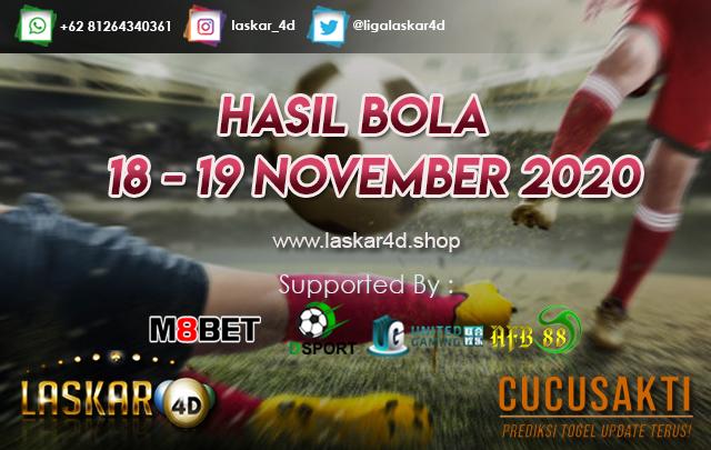 HASIL BOLA JITU TANGGAL 18 – 19 NOV 2020