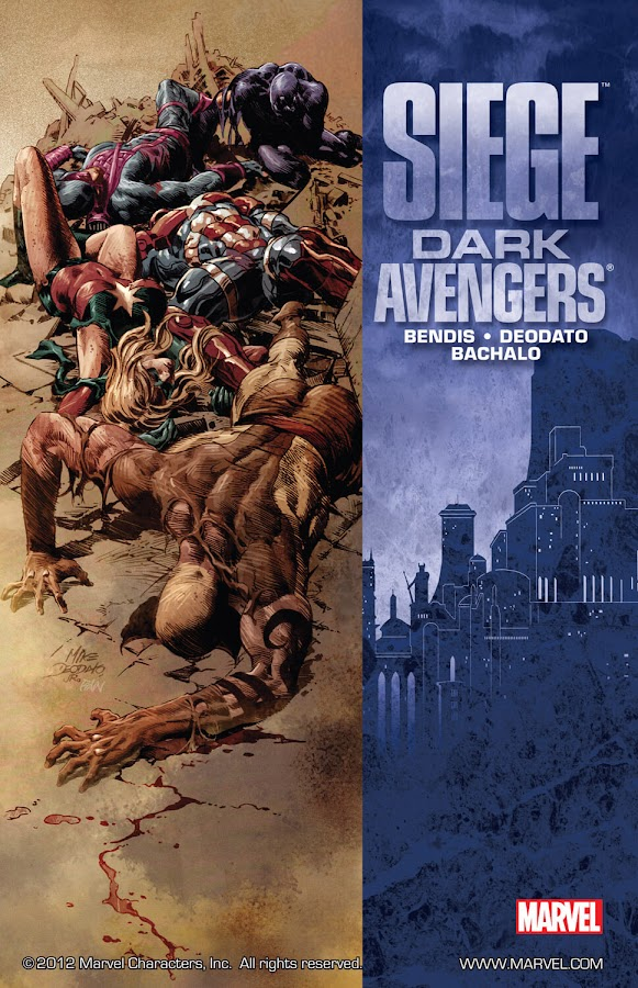 siege dark avengers marvel comics cover brian michael bendis mike deodato jr.