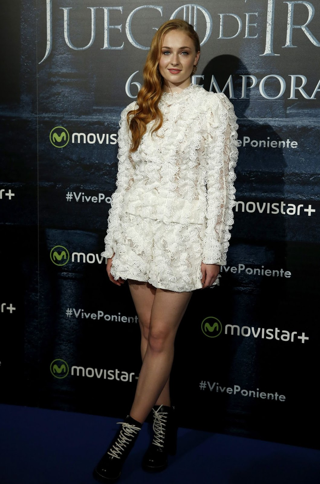 'Alone' actress Sophie Turner at Game of Thrones Fan Event in Madrid