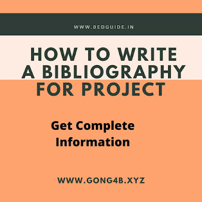 How to Write Bibliography For School Project?